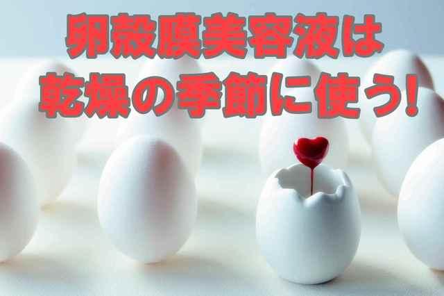 お肌の乾燥対策に卵殻膜美容液は・・・、ものすごく効果があるんです♪